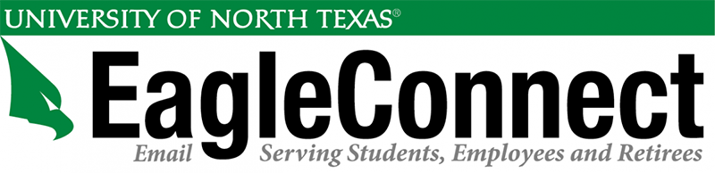 UNT and EagleConnect wordmarks.
