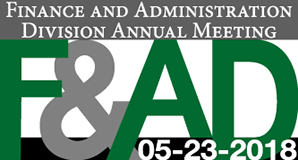 Finance and Administration Division's meeting is May 23, 2018.
