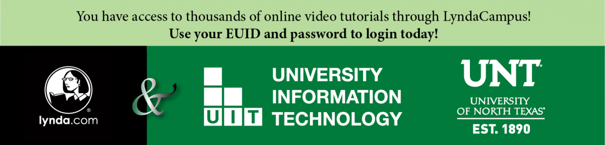 Log in to LyndaCampus with your EUID and password
