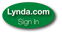 Lynda.com sign-in button. Click and enter your EUID and password for access.