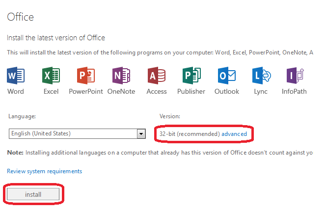 Office 365 ProPlus Screen 3