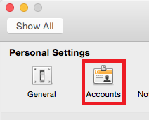 photo of accounts icon