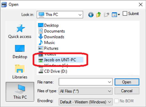 Screenshot of file folders on a PC
