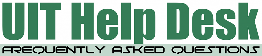 University Information Technology Help Desk FAQ banner