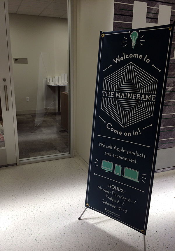 photo of the doorway to the mainframe store in the union building