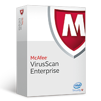 logo and product box for McAfee Virus Scan software